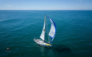 Tapio is sailing his yacht, Asteria, in the Golden Globe Race, and has been out training and making sure all systems are working properly before embarking on this great voyage